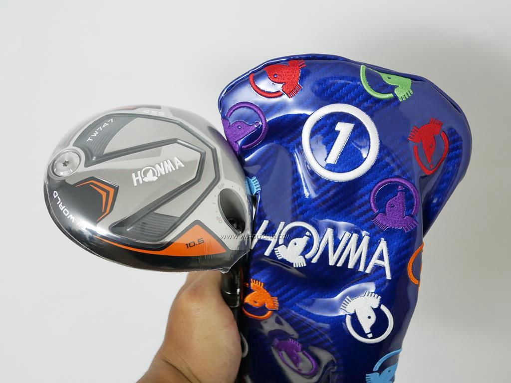 Driver : Honma : **ของใหม่ ยังไม่แกะพลาสติก** ไดรเวอร์ Honma Tour World TW747 455 (รุ่นล่าสุด ปี 2019) Loft 10.5 ก้าน Honma Vizard 50 Flex SR