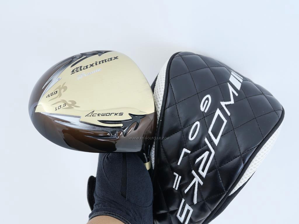 Driver : Worksgolf : Works Golf Maximax Premia (รุ่นแข่งตีไกล หน้าเด้งเกินกฏ) Loft 10.5 ก้านตัวท็อป Mitsubishi Rayon Premia Flex R