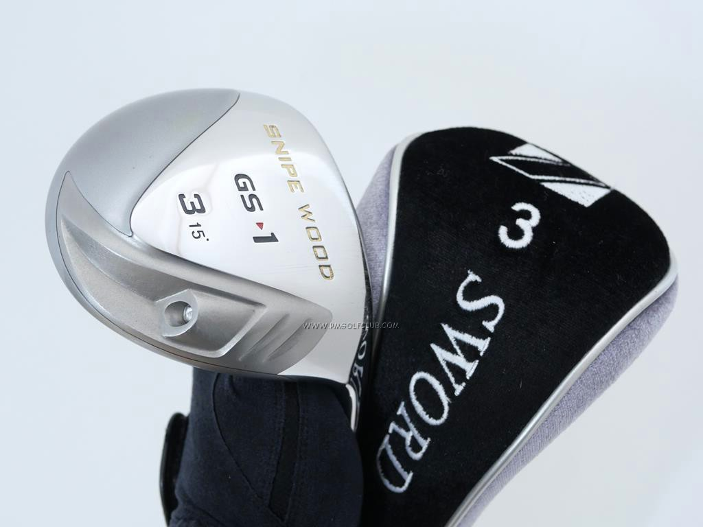 Fairway Wood : Katana : หัวไม้ 3 Katana Snipe Wood GS-1 Loft 15 Flex R