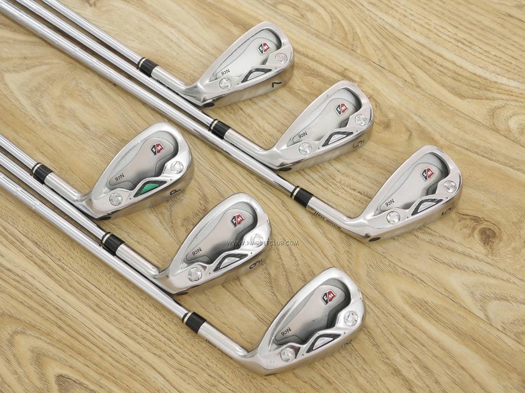 Iron set : Other Brand : ชุดเหล็ก Wilson NC-6 (ใบใหญ่ หน้าเด้ง ตีไกล) มีเหล็ก 5-Pw (6 ชิ้น) ก้านเหล็ก NS Pro 850 Flex S