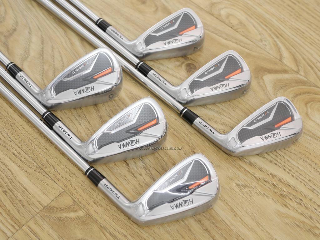 Iron set : Honma : **ของใหม่ ยังไม่แกะพลาสติก** ชุดเหล็ก Honma Tour World TW747P (ออกปี 2019) มีเหล็ก 5-10 (6 ชิ้น) ก้านเหล็ก NS Pro 950 Flex S