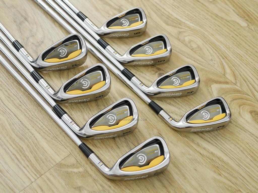 Iron set : Other Brand : ชุดเหล็ก Cleveland CG Gold มีเหล็ก 3-Pw (8 ชิ้น) ก้านเหล็ก NS Pro 950 Flex R