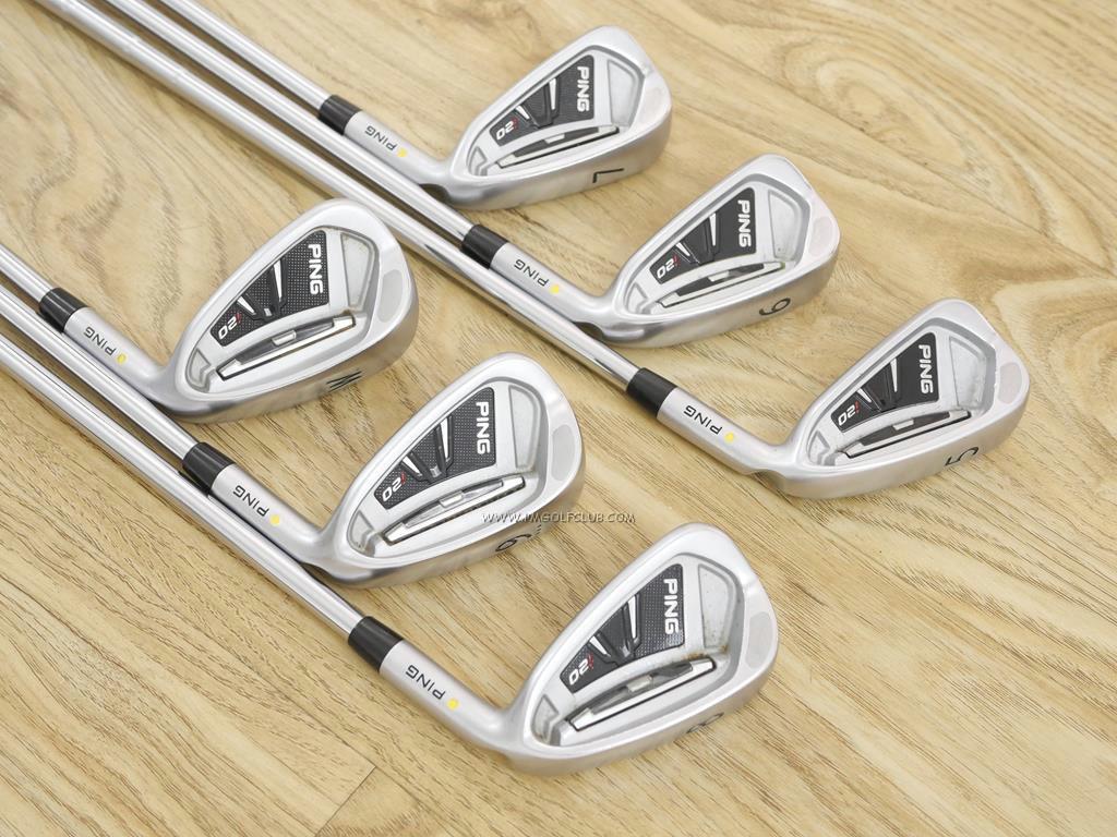 Iron set : Other Brand : ชุดเหล็ก Ping i20 มีเหล็ก 5-Pw (6 ชิ้น) ก้านเหล็ก Ping CFS Flex R
