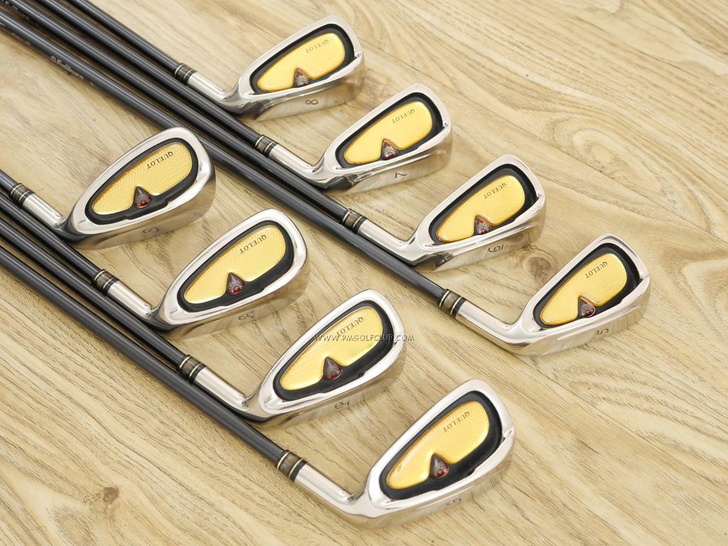 Iron set : Other Brand : ชุดเหล็ก Quelot Royal Excellence RE-10 มีเหล็ก 5-Pw,Aw,Sw (8 ชิ้น) ก้านกราไฟต์ Fujikura Speeder Motore 75i Flex R