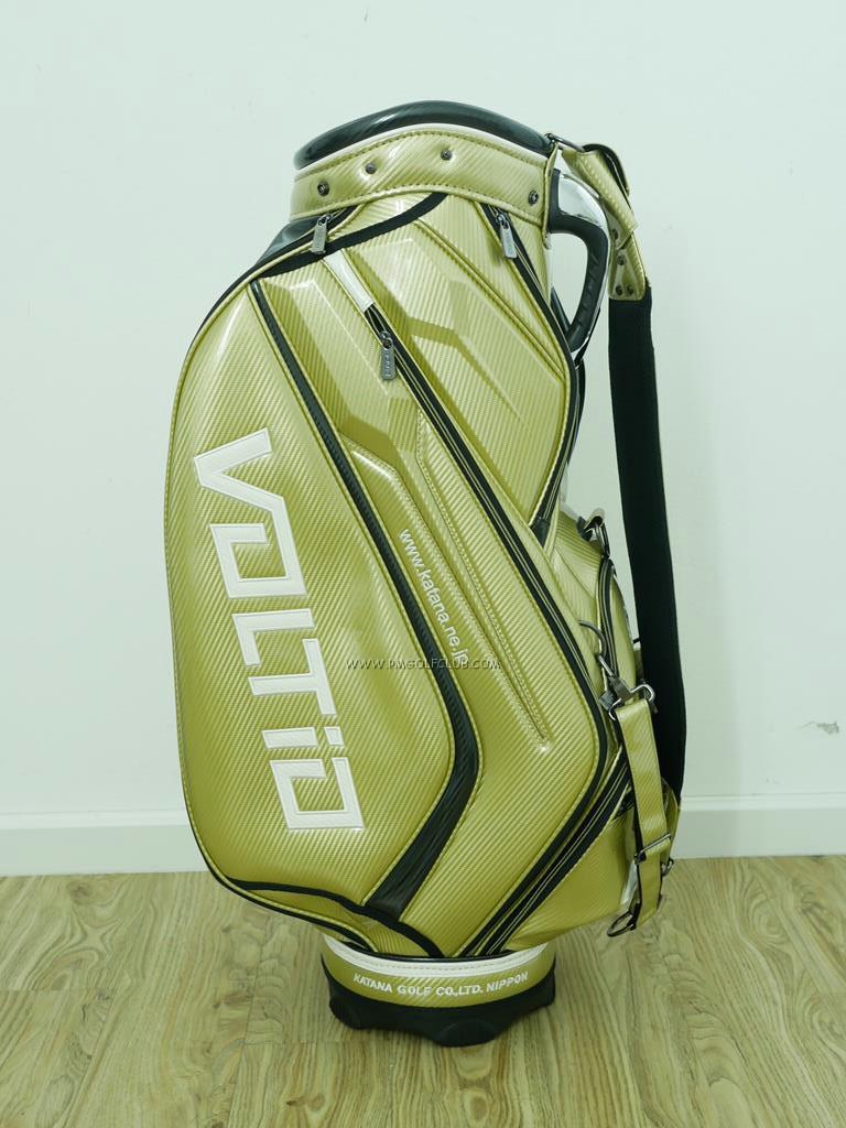 Golf Bag : All : ***ของใหม่*** ถุงกอล์ฟ Katana Voltio Tour Bag สีทอง หนังแก้ว ขนาด 9.5 นิ้ว
