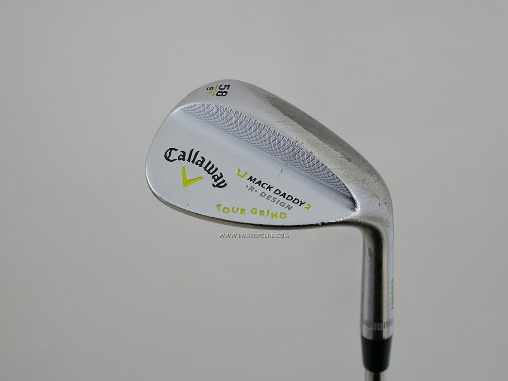Wedge : Callaway : Wedge Callaway Mack Daddy 2 Forged Loft 58 ก้านเหล็ก Dynamic Gold Wedge