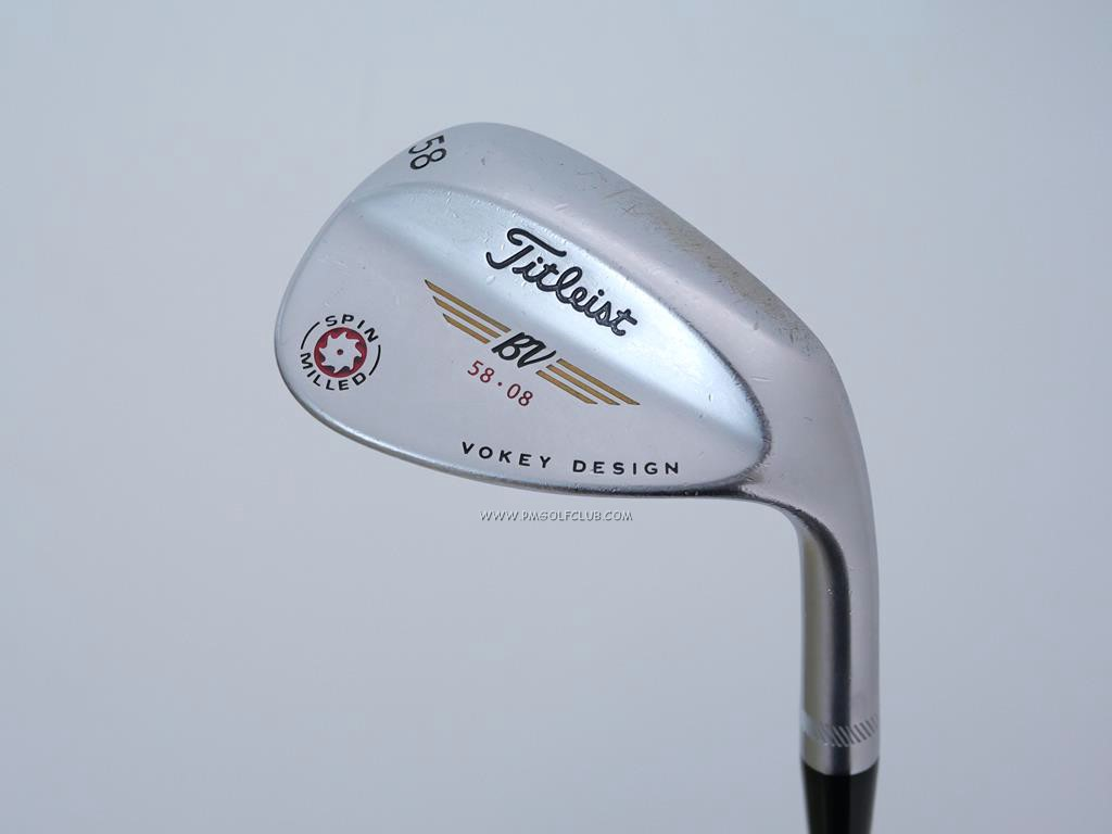 Wedge : Other : Wedge Titleist Vokey Spin Milled Loft 58 ก้าน Dynamic Gold Wedge