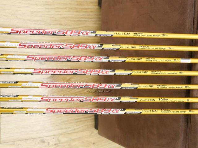Iron set : Katana : ชุดเหล็ก Katana Sword ATC-589a (หน้าเด้ง) มีเหล็ก 6-Pw,Aw,Sw (7 ชิ้น) ก้านกราไฟต์ Fujikura Speeder 589 Flex SR