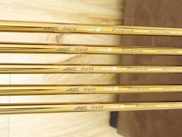 Iron set : Tsuruya : ชุดเหล็ก Tsuruya AXEL Gold Premium II (รุ่นปี 2017 ของใหม่ 6 หมื่นกว่าบาท หน้าเด้งสุดๆ ไกลสุดๆๆ) มีเหล็ก 8-Pw,Aw,Sw (5 ชิ้น) ก้านกราไฟต์ Flex R
