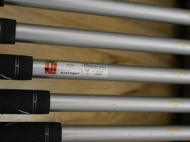 Iron set : Callaway : ชุดเหล็ก Callaway Collection (ตีง่าย ไกล) มีเหล็ก 5-Pw (6 ชิ้น) ก้านกราไฟต์ Flex S