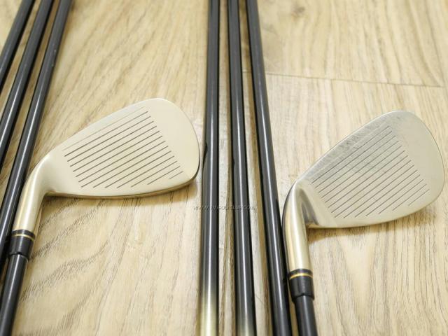 Iron set : Kasco : ชุดเหล็ก Kasco LEIOS J (หน้าเด้ง ตีไกล ง่าย) มีเหล็ก 5-Pw,Aw,Sw (8 ชิ้น) ก้านกราไฟต์ Flex R