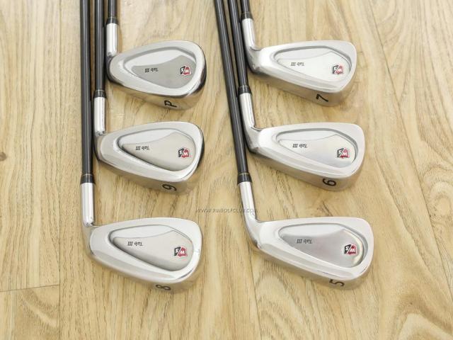Iron set : Other Brand : ชุดเหล็ก Wilson TAB III (รุ่นท๊อปสุด หน้าเด้ง ตีไกล) มีเหล็ก 5-Pw (6 ชิ้น) ก้านกราไฟต์ Fujikura Speeder 801 Flex R