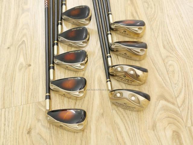 Iron set : Katana : ชุดเหล็กกระเทย Katana Izu Max Sniper มีเหล็ก 5-Pw,Aw,As,Sw (9 ชิ้น เบอร์ 5 ตีระยะเท่าเหล็ก 4 ปกติ) ก้านกราไฟต์ Flex R