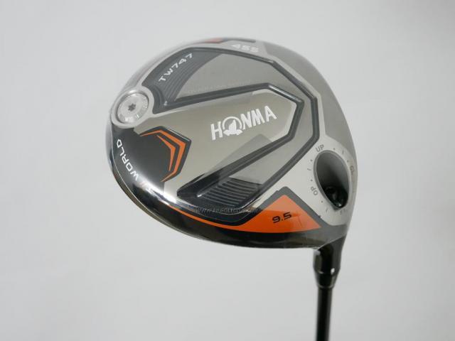 Driver : Honma : **ของใหม่ ยังไม่แกะพลาสติก** ไดรเวอร์ Honma Tour World TW747 455 (รุ่นล่าสุด ปี 2019) Loft 9.5 ก้าน Honma Vizard 60 Flex R