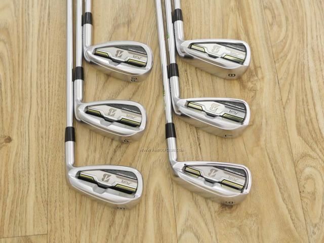 Iron set : Bridgestone : Bridgestone JGR Hybrid Forged (ตีไกลกว่าตัวอื่น 2 เบอร์) มีเหล็ก 6-P1,P2 (6 ชิ้น) ก้านเหล็ก NS Pro Zelos 8 Flex R