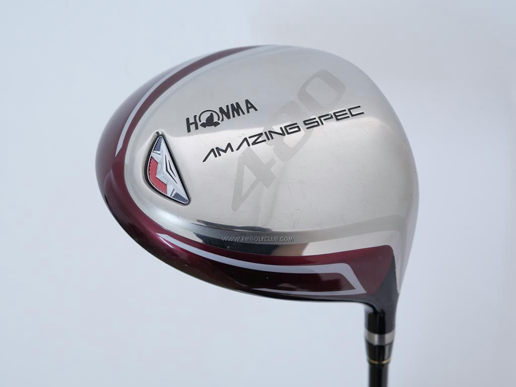 Driver : Honma : Honma Amazing Spec 480 (รุ่นใหม่ หน้าเด้งเกินกฏ หัวขนาด 480cc.) Loft 11.5 ก้าน Amazing Spec Feather & Feather Flex R