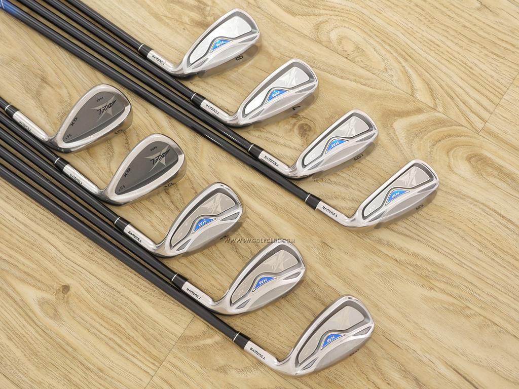 Iron set : Tsuruya : ชุดเหล็ก Tsuruya AXEL GX HM (หน้าเด้ง ตีไกลมาก) มีเหล็ก 5-Pw,Aw,As,Sw (9 ชิ้น) ก้านกราไฟต์ FLex S