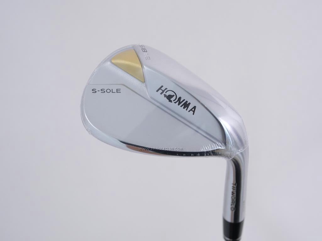 Wedge : Honma : **ของใหม่ ยังไม่แกะพลาสติก** Wedge Honma Tour World TW-W S-Sole (รุ่นล่าสุด ออกปี 2021) Loft 58 ก้านเหล็ก Dynamic Gold S200