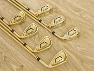 iron_set : ชุดเหล็ก Katana Voltio IV G Series I Gold (ออกปี 2016) มีเหล็ก 6-Pw,Aw,Sw (ครบเซ็ต 7 ชิ้น เหล็กยาวเป็นกระเทย) ก้านกราไฟต์ Tour AD 400 Flex R