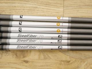 shaft : ก้านชุดเหล็ก SteelFiber i70 Flex S ใส่ 5-Pw (6 ชิ้น)