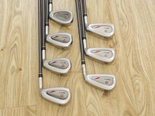 Iron set : Other Brand : ชุดเหล็ก Wilson TAB TC-1 (รุ่นท๊อปสุด หน้าเด้ง ตีไกล) มีเหล็ก 5-Pw,Sw (7 ชิ้น) ก้านกราไฟต์ Flex R
