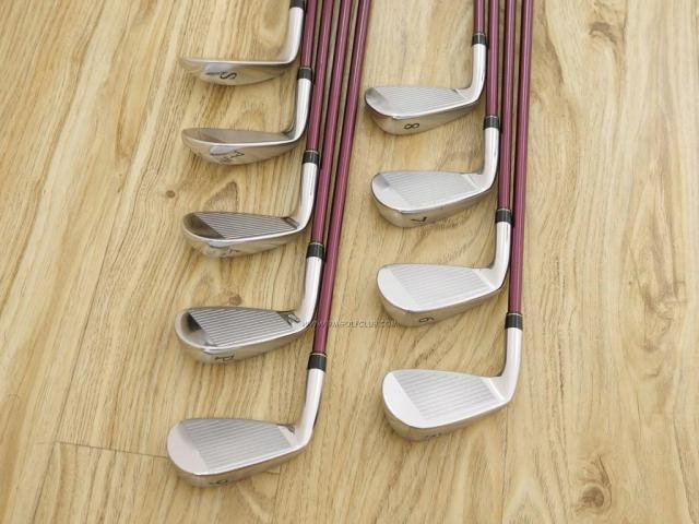Iron set : Yonex : ชุดเหล็ก Yonex Royal E-Zone (รุ่นท๊อปสุด ก้านดีมาก หน้าเด้ง ตีไกลสุดๆ) มีเหล็ก 5-Pw,Aw,As,Sw (9 ชิ้น) ก้านกราไฟต์ Flex R